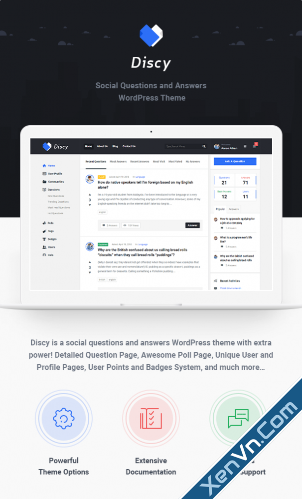 Discy - Social Questions and Answers WordPress Theme.png